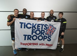FOOTBALL CLUBS ACROSS THE UK WELCOME OUR ARMED FORCES