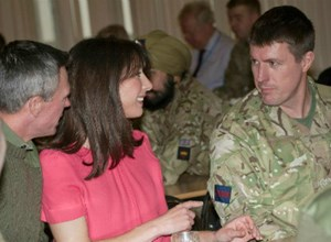 Samantha Cameron Visits Wellington Barracks