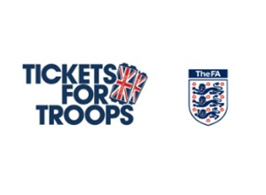THE FA GIVES SERVICEMEN AND WOMEN A DOUBLE SALUTE