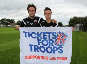 Sheffield United Support The Forces