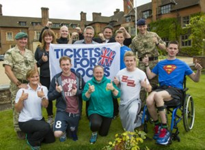 HEADLEY COURT PATIENTS GET BEHIND ENGLAND
