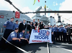 Ray Parlour and the FA Cup aboard HMS Illustrious