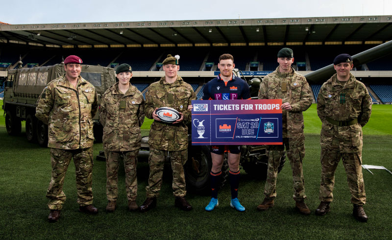 Edinburgh and Tickets For Troops Team Up For 1872 Cup Derby